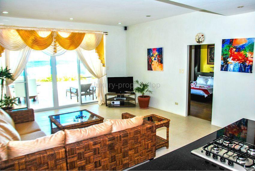 Cohiba villas front room with sea view