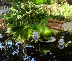 rear garden dining area